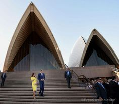 The Duke and Duchess of Cambridge in front of the famous Sydney Opera House, Sydney Australia. April 16, 2014.