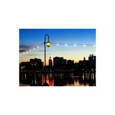 Lake Merritt with Lights at Sunset with City in Background, Oakland,... ($35) ❤ liked on Polyvore featuring home, home decor, wall art, california, california's cities, subjects, travel, u.s. states, united states and world regions