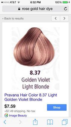 Rose gold from Pravana