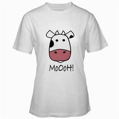 Funny T-Shirts (Cute Cow) Great Gift Ideas for Adults  Women  Girls  Youth  and Teens  Collectible Novelty Shirts - Medium - White ...
