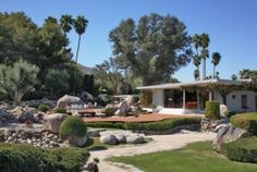 Palm Springs 1: Mid-Century Modern with pool and landscape.