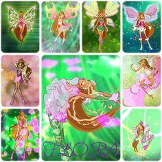 Flora: Magic Winx - Charmix - Enchantix - Believix - Sophix - Lovix - Harmonix - Sirenix - Bloomix