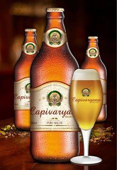 Cerveja Capivaryana, estilo Premium American Lager, produzida por Companhia Nacional de Bebidas Nobres, Brasil. 4.7% ABV de álcool.