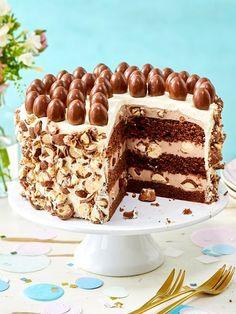 Rezept Torte   Recipe Luftige Schokoböden mit cremiger Monte-Schokobon-Füllung. Ein Traum!