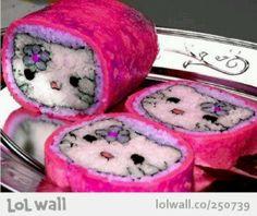 Hello Kitty sushi rolls ...