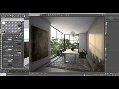 Настройка гаммы в 3ds max 2014 и Vray 3.0. Композ рендер пассов в Nuke - YouTube Interior Design Renderings, Interior Rendering, 3d Max Tutorial, 3d Artwork, Artwork Drawings, Drawing Faces, Vray Tutorials, 3d Studio, 3d Design