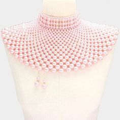 Cleopatra Pearl Bib  Armor Necklace Set