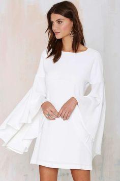 Pretty white dress.