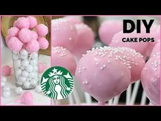 Want to learn how to make cake pops at home that are easy and that taste like Starbucks Birthday Cake Pops? The recipe is at the bottom o. Cake Pop Bouquet, Flower Cake Pops, Pink Cake Pops, Starbucks Cake Pops, Make Birthday Cake, Pink Birthday Cakes, Diy Birthday Desserts, Strawberry Cake Pops, Starbucks Birthday
