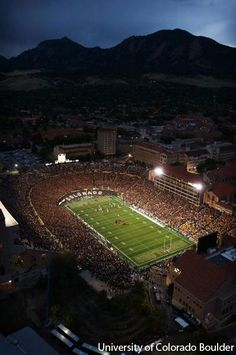 Looking at Folsom Field on gameday. #GoBuffs #CUBoulder  University of Colorado - Go BUFFS!