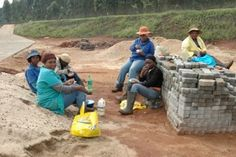 tea time for the construction workers - the spec house is finished and up for sale