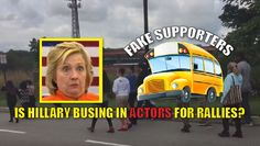"Hillary Clinton is having an issue filling up high school gyms and other small venues. When she does get a crowd, they're very low-energy. At many college universities, reporters have noted that there are less ""young"" people in the crowd and more 50-60-year-olds. Now, there are reports that Hillary is forced to ""bus"" people into her rallies. This is from today's Pennsylvania event. Watch the video: Possible bussed in supporters? Pretty picturesque group of actors #HillaryinHaverford…"