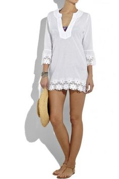 Summer Fashion Outfits, New Fashion, All About Fashion, Womens Fashion, Fashion Trends, Hawaii Outfits, Holiday Wear, White Tunic, Beachwear