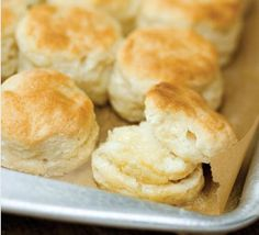 makes 8 biscuits  1 1/2 cups all-purpose flour,   1 1/2 T sugar,   1 1/2 t baking powder,  1/4 t baking soda rounded, 1/4 t salt,  1/2 stick COLD butter, cut into cubes,  3/4 cup buttermilk