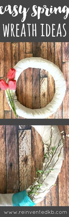 Easy Spring Wreath Ideas from Reinvented. Create this easy DIY project in under an hour.