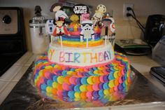 Epic cake by Michelle, Rainbow Star Wars birthday party Star Wars Birthday, Birthday Cake, Birthday Parties, Rainbow Star, Real Life, Stars, Party, Birthday Celebrations, Birthday Cakes