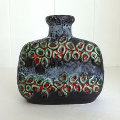 Dumler Breiden Domino Vase West German Pottery