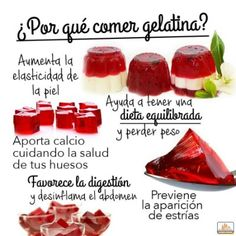 5 razones para comer gelatina – Embarazadas primerizas 5 reasons to eat jelly – First-time pregnant women Calendula Benefits, Lemon Benefits, Matcha Benefits, Coconut Health Benefits, Tomato Nutrition, Food Nutrition, Stop Eating, Natural Cures, Natural Health