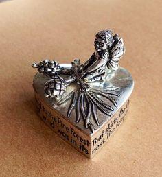 Masj Trinket Box Silver Plate Box Pewter Box Silver by LouSimArt