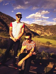 Tyler and Josh from twenty one pilots skeleton clique