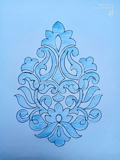 Indian Embroidery Designs, Floral Embroidery Patterns, Embroidery Stitches, Hand Embroidery Dress, Hand Embroidery Tutorial, Cutwork Blouse Designs, Mehndi Designs Book, Pencil Design, Indian Art Paintings