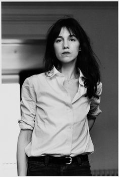Charlotte Gainsbourg, French actress, daughter of Jane Birkin and Serge Gainsbourg Charlotte Gainsbourg, Gainsbourg Birkin, Serge Gainsbourg, French Icons, French Chic, French Style, Hipster Grunge, Jane Birkin, Katharine Hepburn