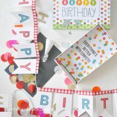 Überraschungsbox aus Streichholzschachteln zum Geburtstag. Ein tolles Upcyclingprojekt auf dem Blog