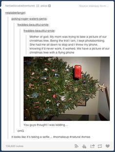 Christmas Tree Selfie