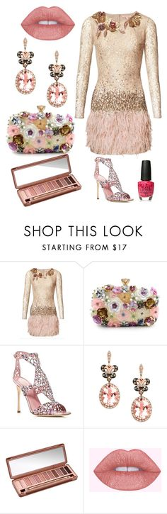 """""""Dinner with the Stars"""" by sharanmichel ❤ liked on Polyvore featuring Matthew Williamson, Sergio Rossi, Effy Jewelry, Urban Decay and OPI"""