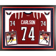 5f21c7111b2 John Carlson Washington Capitals Fanatics Authentic Deluxe Framed  Autographed 2015 Winter Classic Reebok Premier Jersey Nhl
