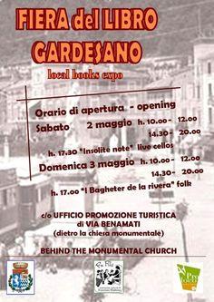 La Fiera del Libro Gardesano sarà a Toscolano Maderno il 2 e il 3 maggio 2015 @gardaconcierge