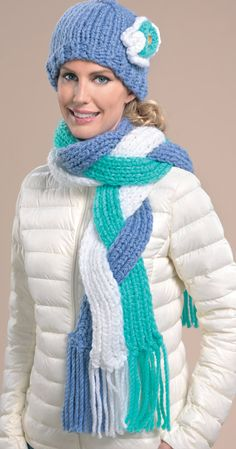Forget the hat- think the infinity scarf... would this work for the dance crew/moms, blue black & silver.  Dance moms could be a different shade of blue.