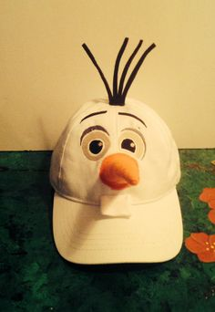 Olaf Inspired Ball Cap, So cute for any age from Children to Adults Frozen Halloween Costumes, Olaf Costume, Halloween Class Party, Halloween Punch, Diy Costumes, Halloween Ideas, Costume Ideas, Frozen Birthday Theme, Party