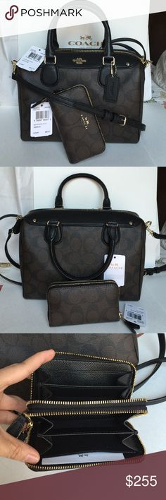 Coach Purse & Wallet 100% Authentic Coach Purse and mini Wallet, both brand new with tag! Coach Bags Crossbody Bags