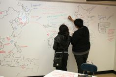 Idea Paint - any wall becomes a dry erase surface - perfect for a library wall for creative expression