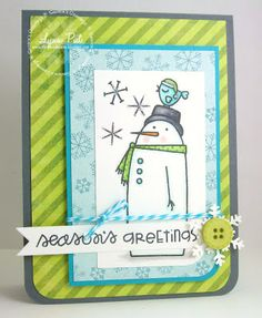 Paper Smooches - Swanky Snowdudes Seasons Greetings card by Lynn Put #papersmooches