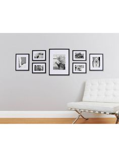 Photo Collage Frames On Wall 43 Pinnacle Gallery Perfect 7 Piece Wall Frame Set Black Gallery Wall Layout, Gallery Photo Frames, Photo Wall Layout, New Wall, My New Room, Picture Frames, Black Photo Frames, Picture Placement On Wall, Picture Frame Layout