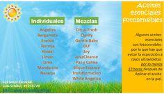Aceites esenciales fotosensibles!