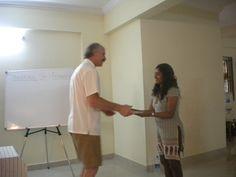 Giving my host, Apurva, her Level 2 certificate