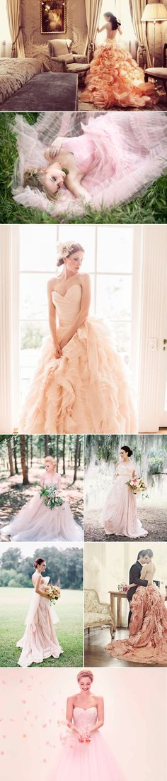 pink blush wedding dresses