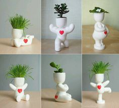 Cute plant holders the right plant really makes the person is part of Flower planters - House Plants Decor, Plant Decor, Flower Planters, Flower Pots, Ceramic Planters, Planter Pots, Pot Plante, Unusual Flowers, 3d Prints