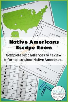 Looking for a fun U.S. History review activity? This Native American Escape Room comes with six escape room challenges to help students review early Native American tribes and culture. #vestals21stcenturyclassroom #nativeamericanescaperoom #nativeamericanactivities #historyescaperoom #ushistoryescaperoom #historyescaperoomideas #historyescaperoomlesson #escaperoomhistoryclassroom