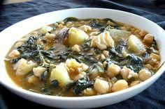 Potaje de garbanzos con espinacas y nacalao en la Comunidad de Cocina - Hogarutil.com