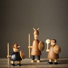 北欧表情/Kay Bojesen系列丹麦木雕<span class=H>木偶</span>摆件礼品/维京海盗6款