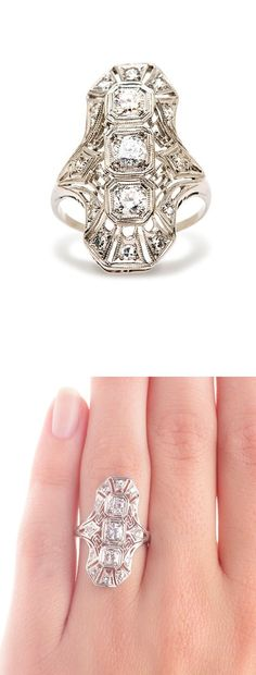 Art Deco Ring vintage antique 20s ring. LOVE IT!