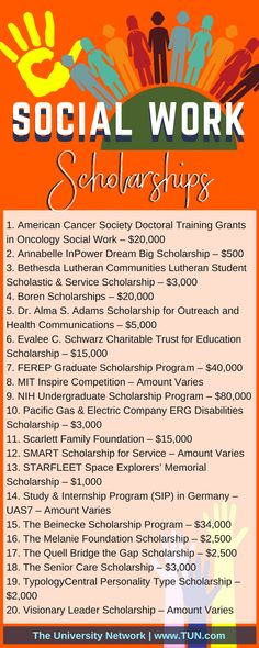 Here is a selection of Social Work Scholarships that are listed on TUN.You can find Social work and more on our website.Here is a sele. Social Work Quotes, Social Work Humor, School Social Work, Student Work, Social Skills, Social Issues, High School, Grants For College, Financial Aid For College