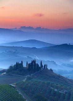 Orcia Sunrise, Tuscany, Italy