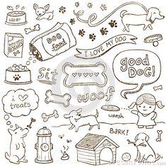 Dog Doodles by Erica Truex, via Dreamstime