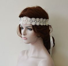 Rustic Wedding Headband   Lace Wedding hair Accessories by ADbrdal #Wedding #WeddingHairAccessories  #WeddingHairJewelry #BridalHairAccessories #WeddingHeadbans #Bridal # HairAccessories #HairJewelry