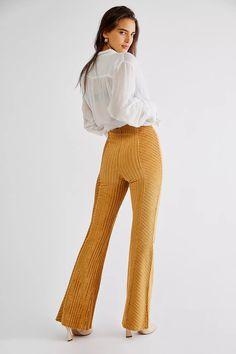 Slim Pull-On Velvet Flare Pants | Free People